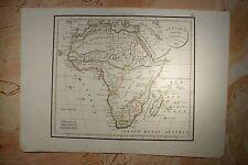 CARTE AFRIQUE DIVISEE EN SES PRINCIPAUX ETATS 1829 (350A.C) DELAMARCHE