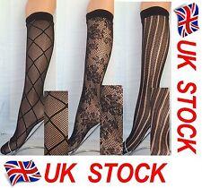 lace, black net pop socks, knee highs, trouser socks, assorted 3 pair pack flirt