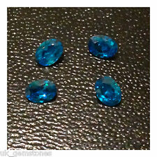Blue Topaz Oval 3mm x 4mm Cubic Zirconia, AAAAA Grade, Three Stones.