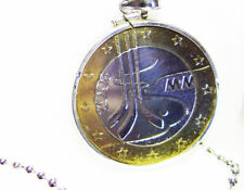 Ice Hockey Necklace World Championship Euro $5 Finland Bi-Color Ships from Usa