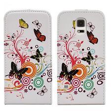 Handy Tasche Flip Case Etui Samsung I9190 I9195 Galaxy S4 SIV Mini Flower M146