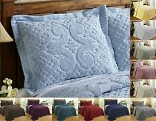 Better Trends Ashton 100% Cotton Tufted Chenille Shams in Assorted Sizes Colors
