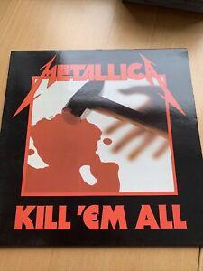 LP * Vinyl * METALLICA: kill 'em all * 1983 * sehr , sehr gut erhalten *