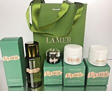 LA MER 5 Pc Set Cream, Eye Concentrate, Lifting Mask, Treatment Lotion, Bag,BNIB
