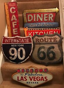 Retro Americana Metal Signs, Loads of Designs, Distressed Metal,Stunning product
