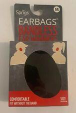 Sprigs Earbags Bandless Ear Warmers Earmuffs Thinsulate Black Medium New