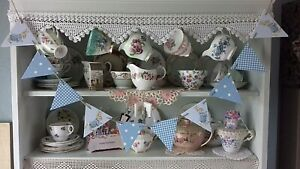 WOODEN BUNTING MADE USING PETER RABBIT CATH KIDSTON BABY BOY CHRISTENING BEDROOM
