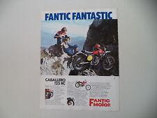 advertising Pubblicità 1975 MOTO FANTIC CABALLERO RC 125