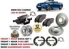 Per BMW E93 320 M SPORT 2007 - & GT Anteriore + Posteriore Dischi Freno Set + PAD + Sensore Piombo