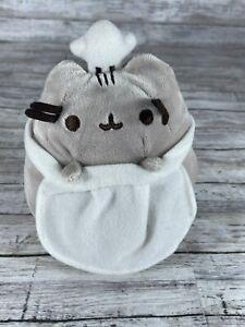 "Gund Pusheen Chef Stuffed Toy Plush 6"" Tall Kawaii"