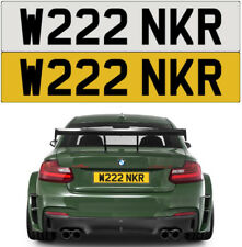 W*NKER RUDE NAUGHTY CHEEKY BAD EVIL MEAN PRIVATE NUMBER PLATE