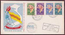1er Jour VIETNAM du SUD N°146/149 du 26-10-1960, South Vietnam FDC Sc#146-149
