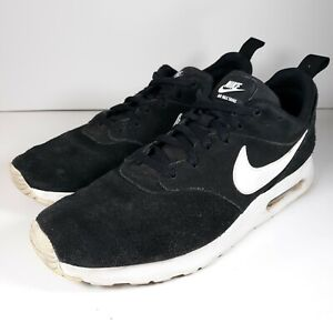 Nike Air Max Tavas Black Suede Men's Running Shoes Size 8.5 US 802611-001