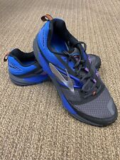 NEW Brooks Cascadia 12 Men's Running Shoes - Black/Blue/Orange - Sz 11.5
