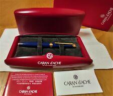 Caran d'Ache Leman Sapphire Lacquer Fountain Pen (Original Version) - M  18K NEW