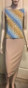 Stretchy Sparkly Top Sz L By KD Plus Bodycon Skirt  Sz 12 Not Lined