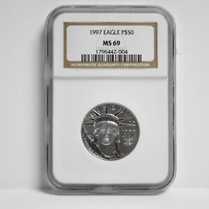 1997 $50 American Platinum Eagle 1/2-oz NGC MS69 (slx3909)