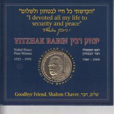 Israel 1996 P.M. Yitzhak Rabin Official State Memorial Medal 39mm CU-NI w/folder