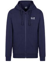 Emporio Armani EA7 Blue Technical Fabric Zipper Hoodies in Different Sizes