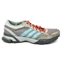 Adidas Marathon 10 Running Shoes Mens Size 8.5 8 1/2 Gray Red Blue Sneakers