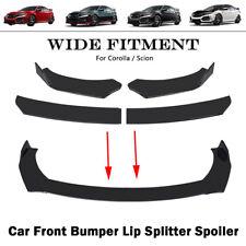 New Listingcar Front Bumper Lip Glossy Black Splitter Spoiler Splitters For Corolla Scion Fits 2008 Honda Accord