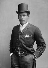 1889 Photo of International Heavyweight Boxer Peter Black Prince Jackson
