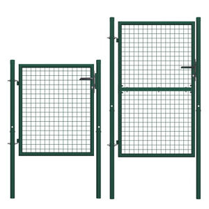 Cancello per Recinzione in Acciaio Verde Ingresso Pedonale Giardino Terrazza
