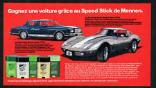 1979 CHEVROLET Corvette Vintage Original Print AD Mennen contest Monte Carlo art