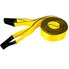 Erickson 59704 3x30ft 15 000lb Tow Strap Yel With Blk Wear Material In Loops