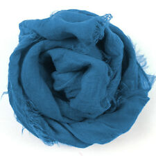 New Women's Large Solid Cotton Blend Viscose Voile Scarf Shawl Wrap
