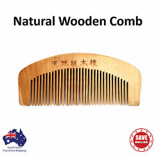 Natural Wooden Wood Comb No-Static Healthy Close Teeth Hair Handy Travel Small