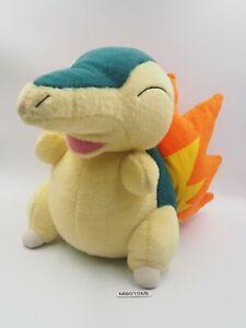 "Cyndaquil MB0106B Pokemon Tomy USA Fuzzy Life Size Jumbo Plush 13"" Doll Japan"
