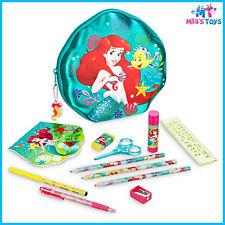 Disney The Little Mermaid Ariel Zip-Up Stationery Kit pencils pen eraser ruler