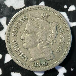 1870 U.S. 3 Cents Nickel Lot#BB54