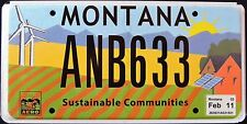 "MONTANA "" SUSTAINABLE COMMUNITIES - WINDMILL SOLAR "" MT SPECIALTY License Plate"