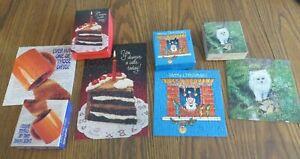 4 SPRINGBOK HALLMARK MINI PUZZLE FLUFF CAT,YOU DESERVE A CAKE TODAY,COFFEE,70 PC