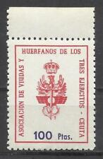5799-SELLOS FISCAL NUEVO MNH** HUERFANOS Y VIUDAS 3 EJERCITOS,LOCAL CEUTA,AFRICA