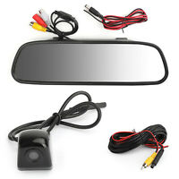 "170°HD Voiture Caméra de Recul + 5.0"" Car Mirror Monitor Kit Vehicle System FR"