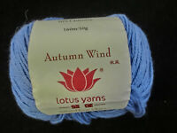 (11,98 €/100 g): 50 g AUTUMN WIND von Lotus Yarns, Fb. 21 blau # 3589