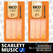 2x Rico Bb Clarinet Reeds 3 Pack Reed Size 1.5 / 1 1/2 RCA0315 3PK