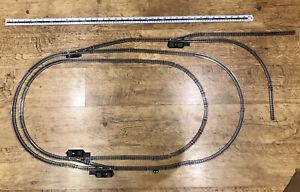 N Gauge track. 2 ovals, crossover, sidings etc. Lima track. See Description