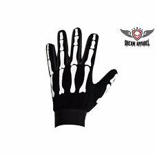 BIKER Motorcycle Skeleton Mesh Textile Mechanics Leather Gloves GL2045