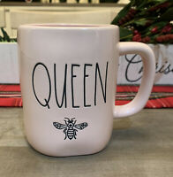 Rae Dunn By Magenta - LL QUEEN BEE 🐝 - PINK Ceramic Coffee Mug