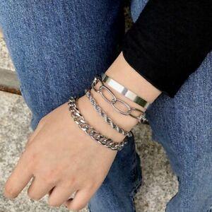 Women Girls Boho Multilayer Bracelet Map Bead Heart Tassel Bangle Cuff Jewellery