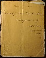 NOV. 1864 HANDWRITTEN TEMPERANCE SPEECH YOUNG MEN'S LITERARY & DEBATING SOCIETY