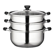 Professional Steamer,Commercial size 32-36cm, Extra large, Stainless, 2 Layers