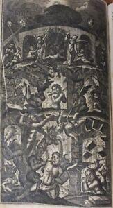 - Kapuziner Buch GULDENER HIMMELSSCHLÜSSEL 1741 - Kupferstiche FEGEFEUER