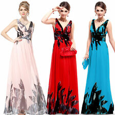 Regular Size Floral Chiffon Maxi Dresses for Women