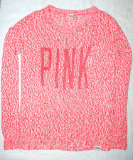 Victoria's Secret LOVE PINK Knitted Oversize Sweater Big Logo Small S Big Loose