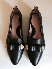 Taryn Rose Women's Edith Loafers Flat Leather Black New US Size 9 M/EU 39  $165
